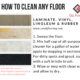 How to Clean Any Floor?